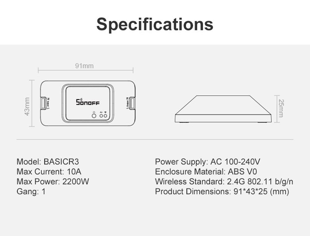 Sonoff Basic R3 Smart Switch
